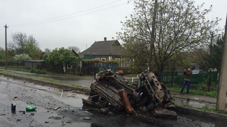 То, что осталось от автомобилей в Еленовке..., фото: novosti.dn.ua