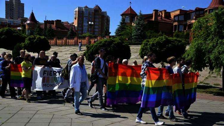 ЛГБТ марш в Киеве весной 2015 года, www.discrimi.net