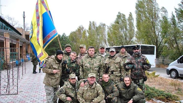 Семен Семенченко с батальоном