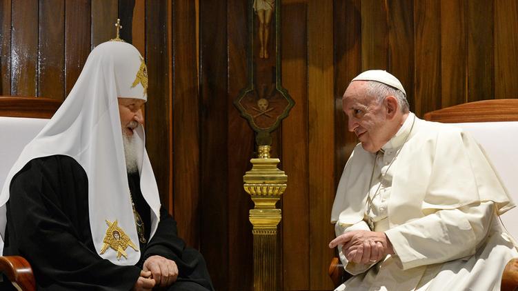 Патриарх Кирилл и Папа Франциск за закрытыми дверями проговорили более 2 часов, church.ua