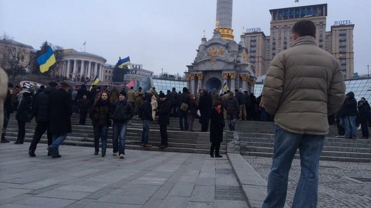 Вече на Майдане, фото: Анастасия Рафал,