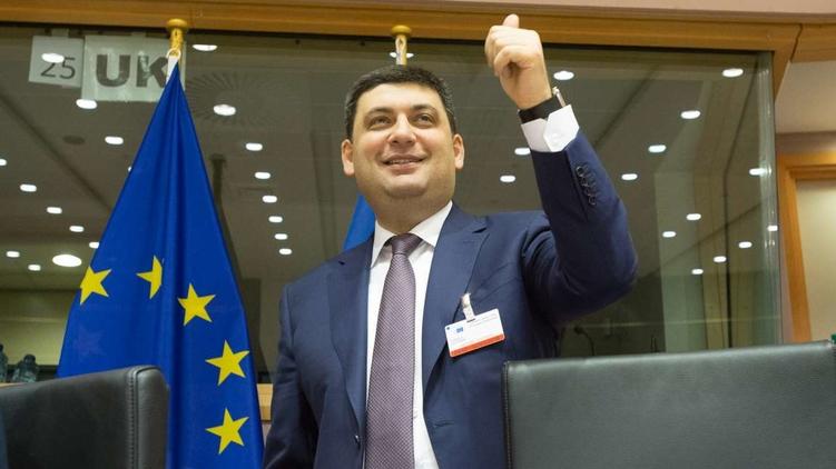 Спикер Владимир Гройсман демонстрирует оптимизм в вопросе отмены Евросоюзом виз для Украины, фото: Анастасия Сироткина (