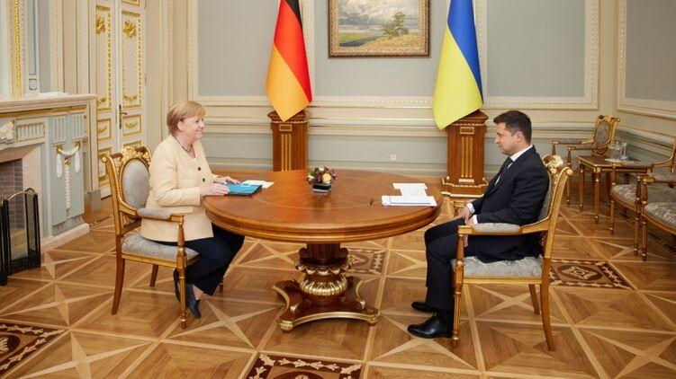 Последняя встреча Меркель и Зеленского в официальном статусе. Фото ОП