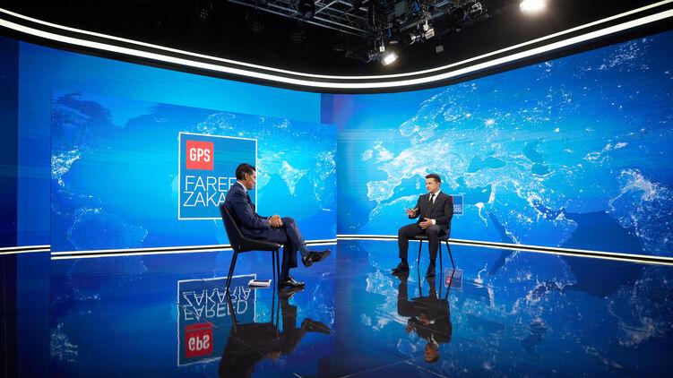 Владимир Зеленский дает интервью CNN. Фото Офиса президента