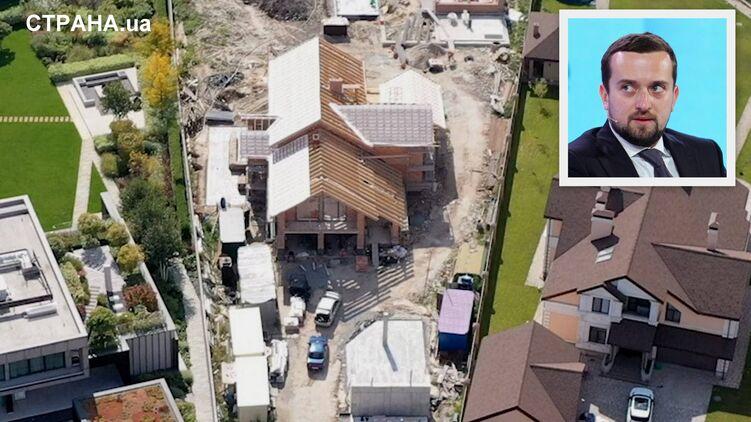 Куратор `Большого строительства` Кирилл Тимошенко ускорил возведение своего особняка под Киевом. Фото и видео