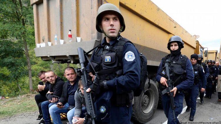 Спецназ Косова на границе с Сербией