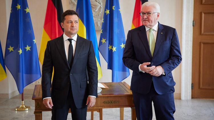 Зеленский и Штайнмайер. Фото Офиса президента