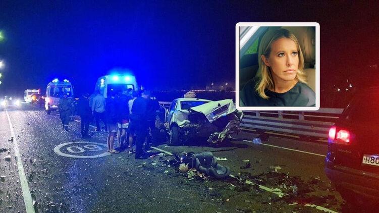 Машина Собчак попала в смертельное ДТП в Краснодарском крае
