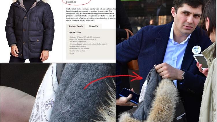 Сакварелидзе нужно работать 2,5 года в генпрокуратуре, чтобы заработать на такую куртку, фото: Аркадий Манн,