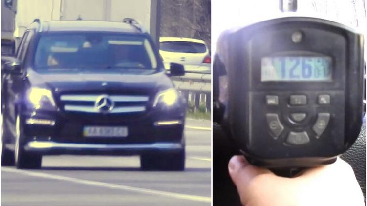 Прибор для измерения скорости движения зафиксировал отметку в 126 км/час, фото: Изым Каумбаев